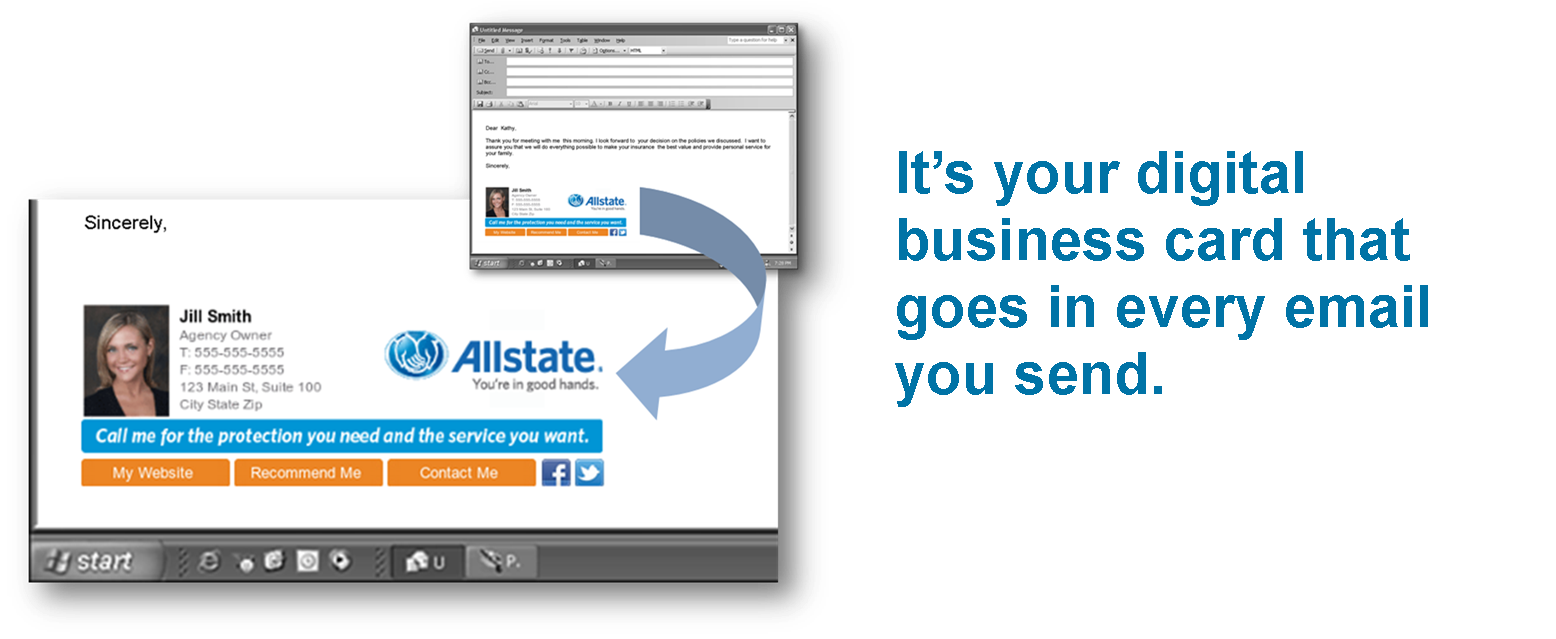 Dynamic email signature over 24000 allstate agents and staff members are currently using it everyday magicingreecefo Image collections